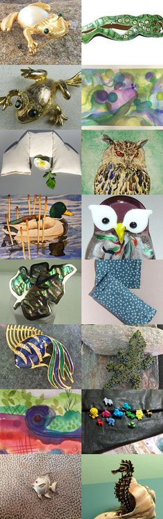 It's Raining Frogs with OTMP Team! by Nancy on Etsy--Pinned+with+TreasuryPin.com