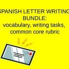 This letter writing bundle provides a student handout with essential letter writing vocabulary, five writing tasks with prompts, and a common core ...