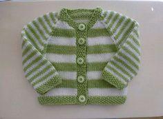 Ravelry: Plain or Striped Baby Classic Cardigan pattern by Glenwell Associates Ltd. Baby Cardigan Knitting Pattern Free, Kids Knitting Patterns, Baby Boy Knitting, Knitted Baby Cardigan, Knit Baby Sweaters, Cardigan Pattern, Knitting For Kids, Baby Patterns, Baby Boy Cardigan