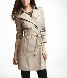 Apparently, trench coats are a must-have for travel. I like the slimness of this one.
