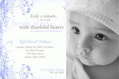 Custom Photo Baptism Christening Invitation