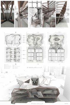 Truss tessellation on behance tessellations architecture presentation board, origami Architecture Origami, Concept Board Architecture, Dynamic Architecture, Architecture Design, Architecture Model Making, Architecture Presentation Board, Architecture Panel, Architecture Portfolio, Futuristic Architecture