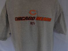 Chicago Bears T Shirt Size XL Licensed NFL Light Gray  Free ship to USA.