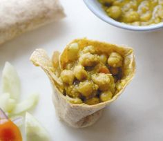 West Indian-Style Channa Wrap from the Meat Lover's Meatless Cookbook  vegan, plantbased, Earth Balance, Made Just Right