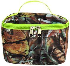 Camo cosmetic bag -- Lime Green