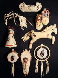 Montana made Native American ornaments