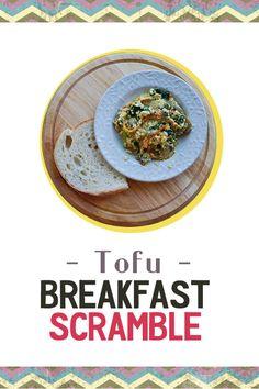 Tofu Breakfast Scramble - High protein breakfast packed with veggies ...