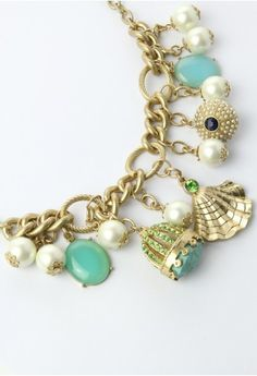 Crown Shell and Pearls Necklace - Retro, Indie and Unique Fashion