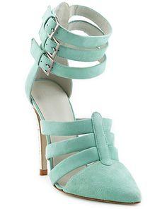 "Plomo ""Katerina High"" Suede Sandal $69.99 ($334.00) Get it now on Rue La La."