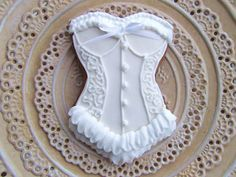 Victorian Corset Cookie...awww so cute for a bachelorette party