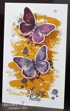 Alex's Creative Corner: Watercolor wings over sized card