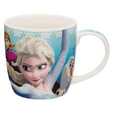 Enjoy Coffee With Elsa and Anna!  Features your favorite princesses Anna and Elsa. Mugs are microwave and dishwasher safe.