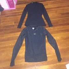2 under armour tops 2 under armour tops. One is thin material, the other one is cold gear. Under Armour Tops