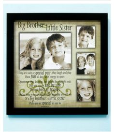 Sibling Collage Frame Big Brother Little Sister