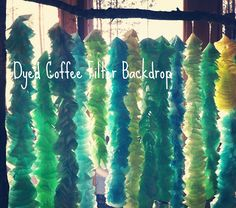 Life as a Pepin: Coffee Filter Backdrop