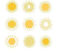 Hand drawn suns by ssstocker on @creativemarket