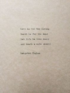 Typed Quote Langston Hughes Poem Typewriter Quote Typed Paper | Etsy
