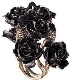 Anel Rosas Falantes - Rings inspired by Tim Burton's Alice in Wonderland