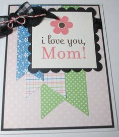 Happy Mothers Day Mom Handmade Card by LoveInBloomCreations, $3.00
