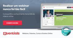 Plataforma gratuita para realizar webinars, webcasts, palestras, cursos e eventos online.  Compartilhe conhecimento e motive pessoas transmitindo vídeos online.