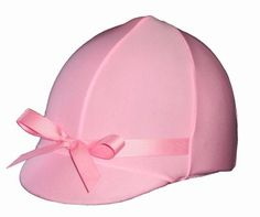 Helmet Covers Etc, English and Western Riding Helmet Covers. Stretch fit for all styles Helmets - Pastel Pink.  www.helmetcovers.com