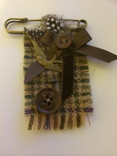 Kilt pin tweed brooch                                                                                                                                                                                 More