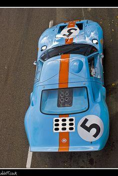 Ford GT 40 In Gulf Livery No 5