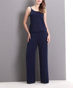 Look what I found on #zulily! Navy Camisole Jumpsuit #zulilyfinds