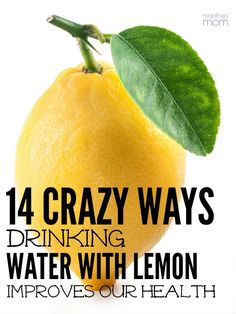 Drinking water with lemon not only adds a bit of flavor, but nourishes our body. Here are 14 crazy ways drinking water with lemon improves health every day. water 14 Crazy Ways Drinking Water With Lemon Improves Health Healthy Drinks, Get Healthy, Healthy Tips, Healthy Food, Healthy Recipes, Lemon Recipes, Detox Drinks, Health And Nutrition, Health And Wellness