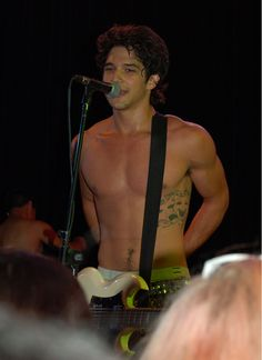 Hey look! Tyler Posey's in a band called Lost in Kostko and he's just as shirtless as he is in 'Teen Wolf'