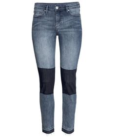 6 Patchwork Jeans That Prove This Denim Trend Is Making a Comeback - H&M Patched Knee Jeans - from InStyle.com