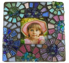 Mosaic Flower Picture Frame