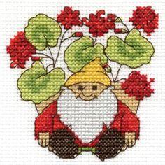 Geraniums Mini Cross Stitch Kit
