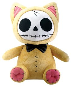 Mao-Mao Kitty Furry Bones Skellies Plush Toy [1118S] - $21.99 : Mystic Crypt, the most unique, hard to find items at ghoulishly great prices!