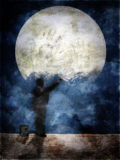 The Moon Dreamer: Painting Luna by *zungzwang