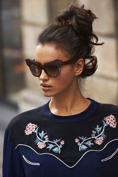 Isabel Marant Top/Awesome Sunglasses