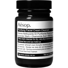 Aesop Purifying Facial Cream Cleanser (49 CAD) ❤ liked on Polyvore featuring beauty products, skincare, face care, face cleansers, beauty, fillers, black, cosmetics, makeup and colorless
