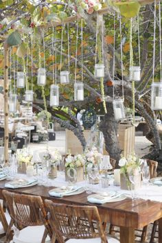 Fun beachy tables: http://www.stylemepretty.com/2015/03/19/rustic-chic-grand-cayman-wedding/ | Photography: Celebrations Cayman - http://celebrationsltd.com/