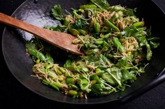 This makes a wok full of appealing, savory crunch, with brown rice noodles for contrasting texture.