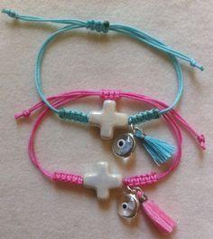 Macrami Baptism Martyrika / Witness Bracelet 6pc by marilous