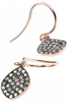 rose gold #diamond #earrings I designed by meira t. I NEWONE-SHOP.COM