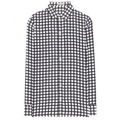Bottega Veneta Polka-Dot Silk Blouse ($965) ❤ liked on Polyvore featuring tops, blouses, black, silk top, dot blouse, polka dot silk blouse, black polka dot blouse and black top
