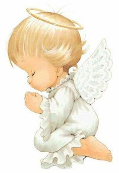 Angel by Ruth Morehead Angel Images, Angel Pictures, Cute Pictures, Angels Among Us, Angel Art, Precious Moments, Christmas Angels, Vintage Cards, Cute Drawings