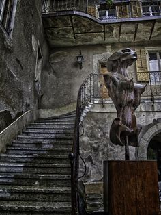 The H.R. Giger Museum in Gruyeres, Switzerland showcases the largest collection of the artist's work on permanent public display.