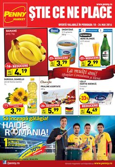 Catalog Penny Market Romania Oferte 18-24 Mai 2016! Oferte si recomandari: Praline Asortate Chocola 400 g 5.99 lei; Surasul soarelui 3.79 lei