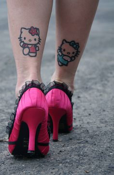 hello kitty tattoos for my @Britt Stotler... and might I add... I love those shoes!!