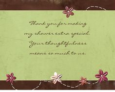Baby Shower Thank You Cards Wording For Ideas