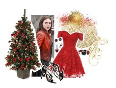 """""""Wanda at christmas"""" by holly-the-fangirl ❤ liked on Polyvore featuring mode, Chilewich, Chico's, Rosa Maria en BERRICLE"""
