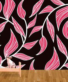 Peel and Stick Fabric Wallpaper- NO BUBBLES like decals. :)