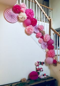 Baby shower ideas for girls themes decoration diy pom poms Ideas 70th Birthday Parties, Barbie Birthday, Baby First Birthday, Birthday Diy, Paper Fan Decorations, Diy Party Decorations, Birthday Decorations, Girl Themes, Baby Shower